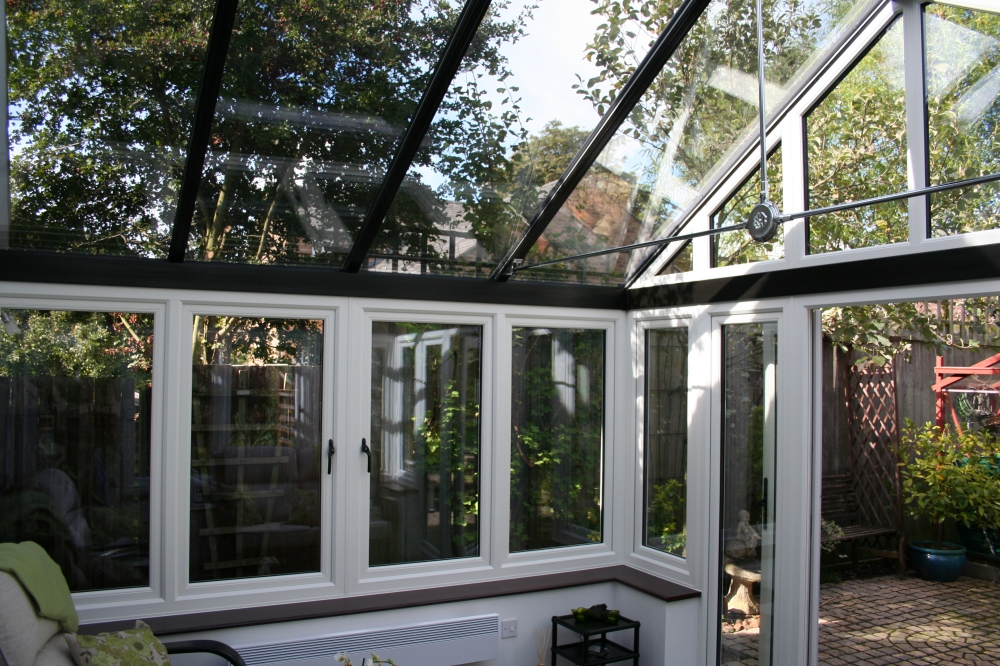 New glass roof for conservatories