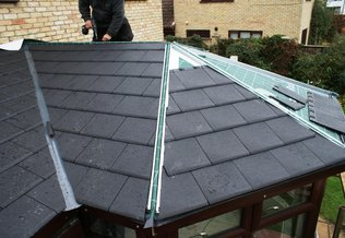 Fitting a new tiled conservatory roof